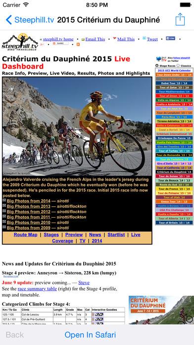 Steephill.ios - 自行车比赛软件截图0