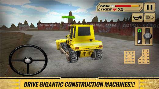 沙挖掘机驾驶员模拟器3D:工作在施工现场的重型挖掘机软件截图2