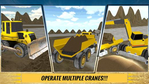 沙挖掘机驾驶员模拟器3D:工作在施工现场的重型挖掘机软件截图1