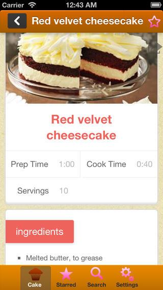 Cake Baking Recipes(蛋糕烘焙食谱)软件截图0