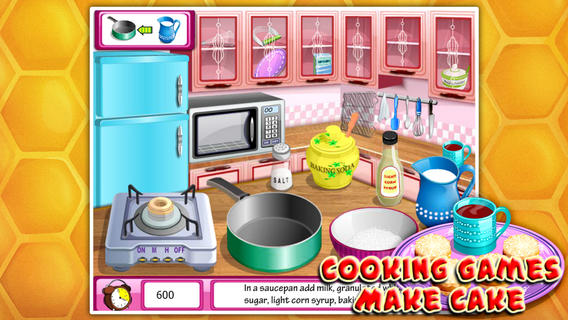 烹饪游戏:奶油蛋糕软件截图2