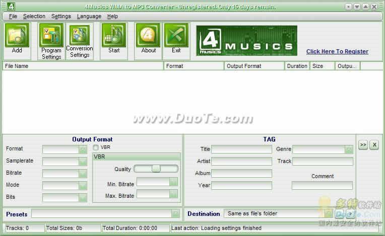 4Musics WMA to MP3 Converter下载