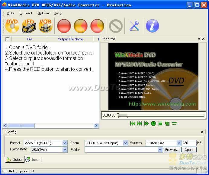 WinXMedia DVD MPEG AVI Audio Converter下载