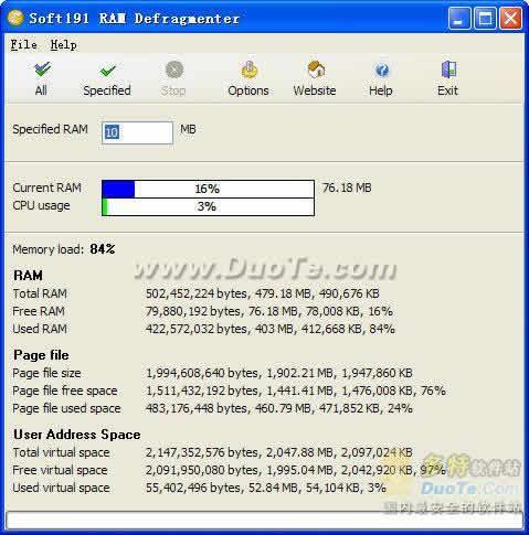 Soft191 RAM Defragmenter下载
