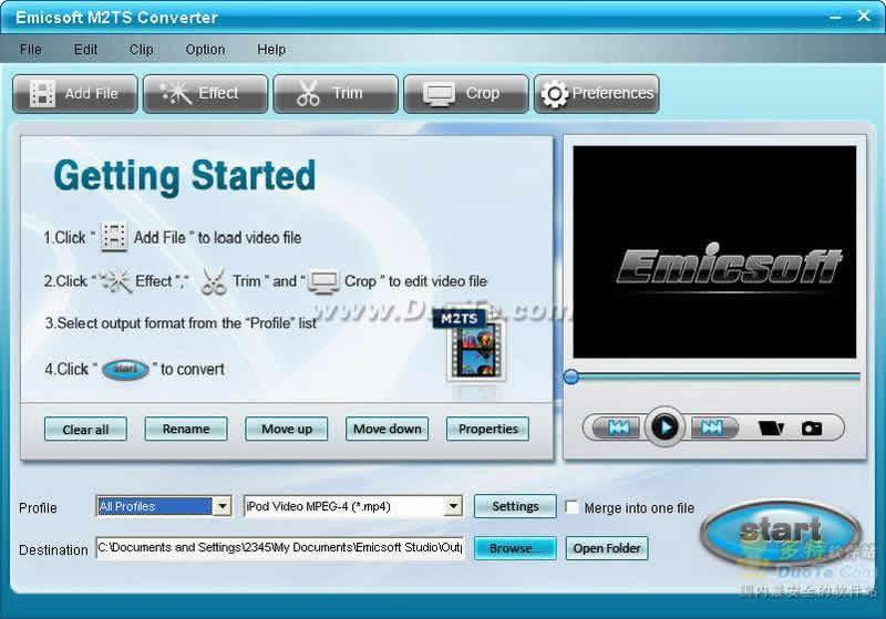 Emicsoft M2TS Converter下载