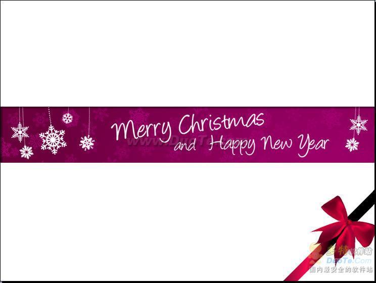 圣诞节紫色简洁PPT模板下载