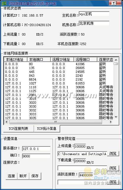 网络眼睛服务器流量监控大师下载