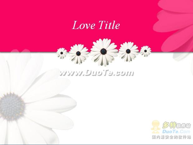 爱情背景PPT模板下载