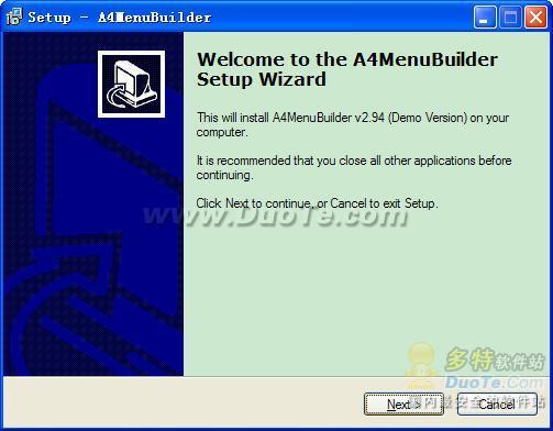 A4 Flash Menu Builder下载