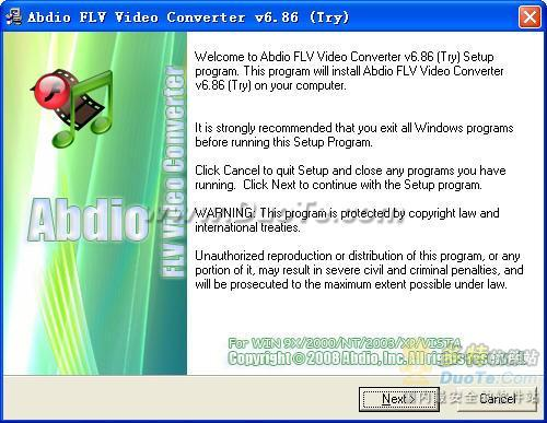Abdio FLV Video Converter下载
