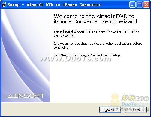 Ainsoft DVD to iPhone Converter下载