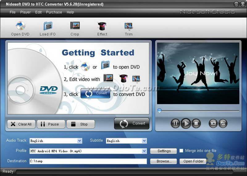 Nidesoft DVD to HTC Converter下载