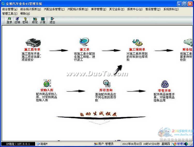 金骏汽车业务4S管理系统下载