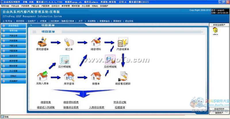 自由风汽修汽配软件下载
