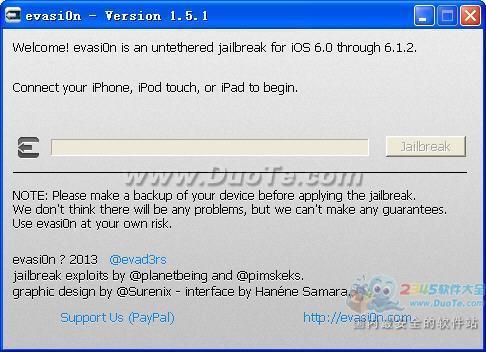 evasi0n(iOS 6.x完美越狱工具)下载