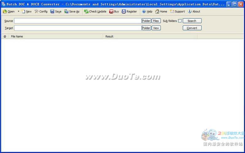 Batch DOCX to DOC Converter下载