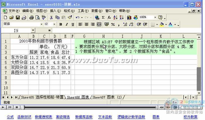 Excel视频教程--图表下载
