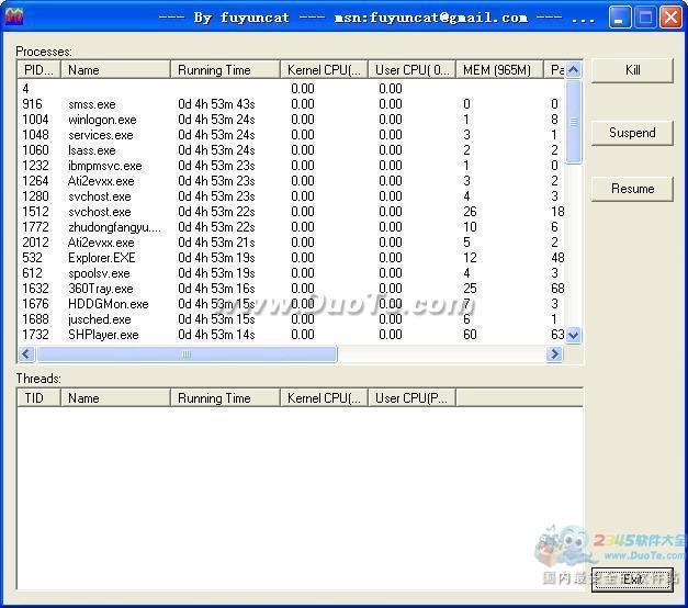 CPU使用率监视工具(TopShow) 1.01绿色免费版下载