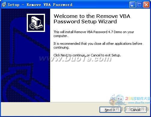 Remove VBA Password (删除VBA密码)下载