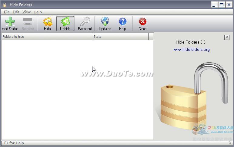 Hide Folders(文件夹隐藏工具)下载