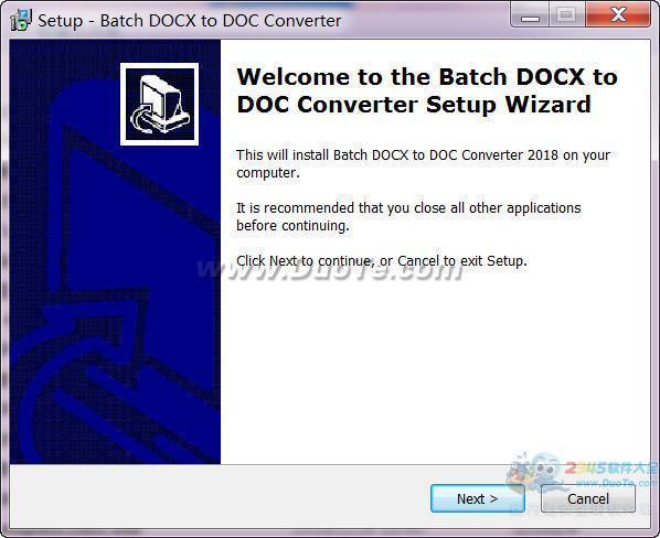Batch DOC and DOCX Converter(DOC转DOCX工具)下载