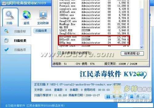 杀毒不如主动防御 江民杀毒KV2009评测