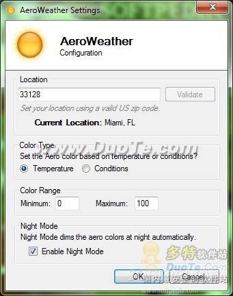 让Windows 7窗口颜色随天气自动变换