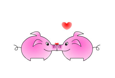 Flash教你如何制作有趣的亲嘴猪动画