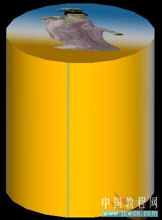 AutoCAD渲染教程-圆柱上贴图方法