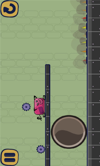 奔跑的像素猪