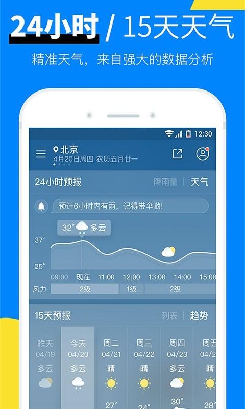 新晴天气软件截图2