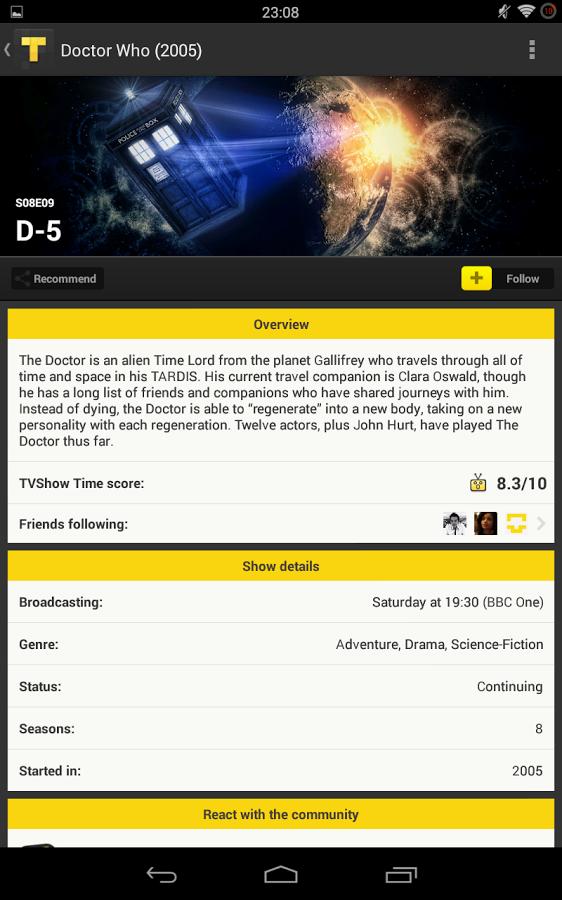 TVShow Time,追剧向导软件截图2