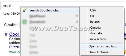如何看到别国或其语言的谷歌搜索结果