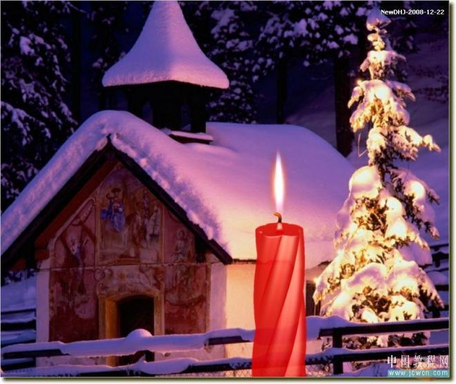 AutoCAD教程:温馨圣诞烛光的渲染方法