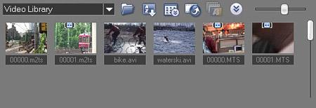 会声会影直接从 Windows Vista® 媒体库中加载媒体