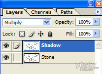 Photoshop巧用滤镜制作逼真的石头