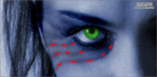 用Photoshop笔刷打造恐怖的吸血鬼特效