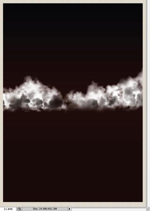 Photoshop笔刷制作蓬松漂亮的云彩