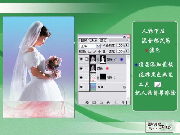 PS照片特效基础教程之制作唯美的艺术婚片