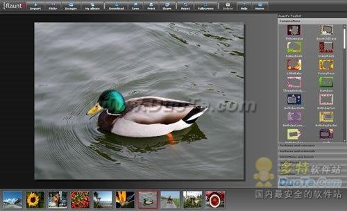 一个独立的在线图片服务,整合了编辑、打印和共享。