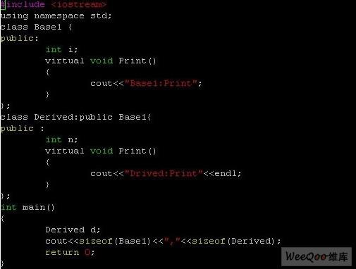 什么是c++虚函数