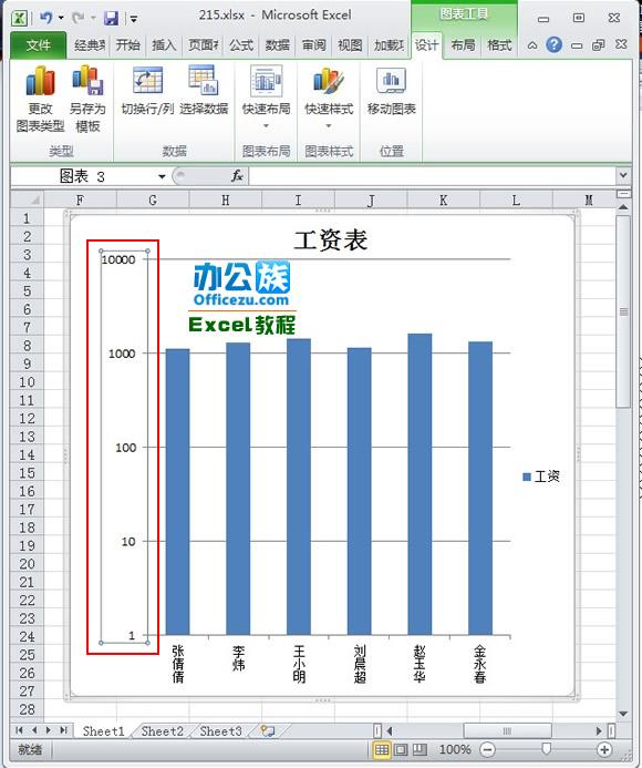 excel2010对数刻度设置方法