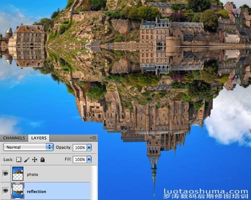 ps照片处理-为图像添加水波倒影