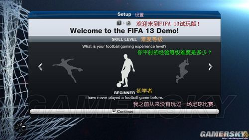 《FIFA13》菜单界面翻译