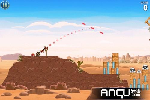 《愤怒的小鸟:星球大战》第一大关11-15三星攻略