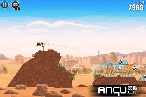 《愤怒的小鸟:星球大战》第一大关16-20三星攻略