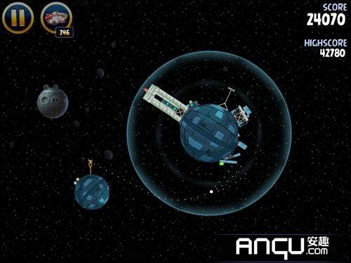 《愤怒的小鸟:星球大战》第二大关1-5三星攻略