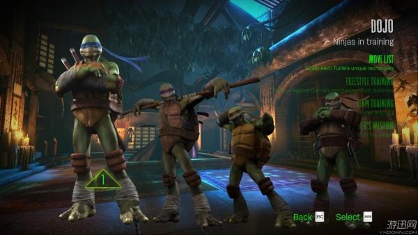 《忍者神龟:脱颖而出》游戏菜单翻译教程