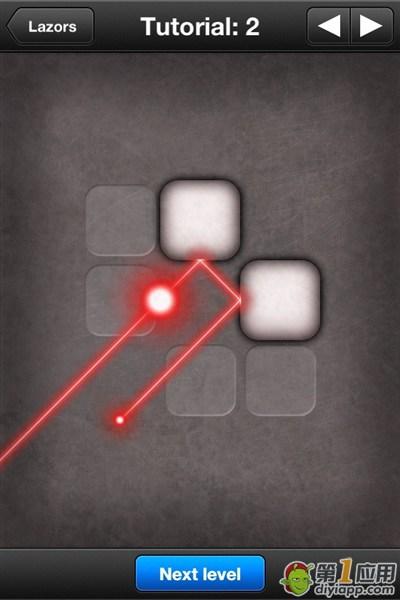 《光线迷宫》lazors Tutorial第2关通关攻略