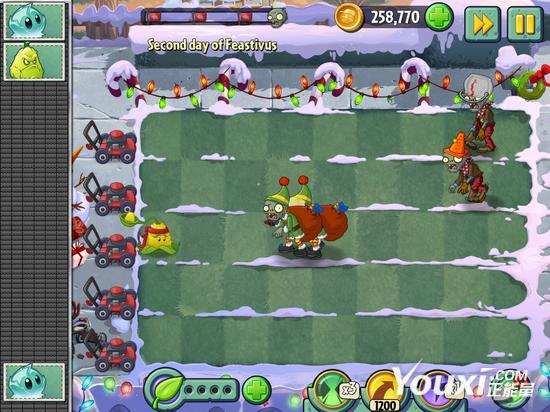 《植物大战僵尸2》英文版圣诞场景玩法攻略